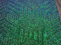 Hologram Geometric Sequins Embroider On A Mesh.wedding/bridal/nightgown/prom/