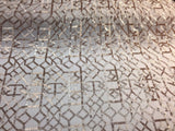 Matte Champagne Geometric Sequins Design Embroider On A 2 Way Mesh- Sold By Yard