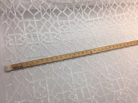 White Geometric Sequins Design Embroider On A 2 Way Mesh-Fashion-Sold By Yard.