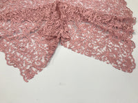 Dusty Rose Guipure Lace - Mesh Dress Top-Trim Bridal Wedding Decorations By Yard