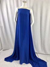 "Load image into Gallery viewer, ROYAL BLUE 2 WAY STRETCH POLYESTER CHIFFON DRESS LINING-SHEER-58"" WIDE-BY YARD."