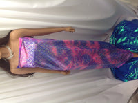 Lilac Pink Jumbo Hologram Mermaid Fish Scales-4 Way Stretch Lycra-spandex- Yard.