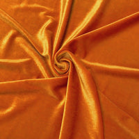 Stretch Velvet Fabric Orange Fabric Velvet Fabric By The Yard Sewing Fabric