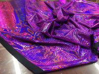 Snake Design Tail Scale Sparkle Hologram Nylon Spandex Fuchsia By The Yard