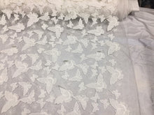 Load image into Gallery viewer, Ivory Soft Mesh with 3D Butterflies Lace Dress Wedding Decorations.Sold 1 yard