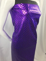 Mermaid Fabric Fish Tail Scale Sparkle Hologram Spandex Purple By The Yard