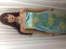 Load image into Gallery viewer, Mint Blue Jumbo Hologram Mermaid Fish Scales-4 Way Stretch Lycra-spandex- Yard.