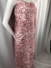 Load image into Gallery viewer, Dusty Rose Guipure Lace - Mesh Dress Top-Trim Bridal Wedding Decorations By Yard
