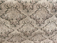 Chenille upholstery Drapery Damask Gold Gold Print furniture fabric sold BTY