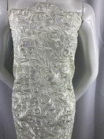 Ivory Guipure Lace - Mesh Dress Top-Trim Bridal Wedding Decorations By The Yard