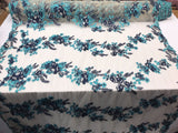 Lace Fabric - Floral/Flower Multi-Color Crafts Sewing Dress Decoration The Yard