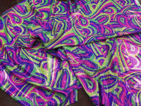 Fashion Desings Nylon Spandex Fabric Multicolor Paysley By Yard Fuschia Neon
