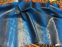 VIPER SOPYTHANA EMBOSSED SNAKE SKIN VINYL LEATHER FABRIC UPHOLSTERY ROYAL YRD