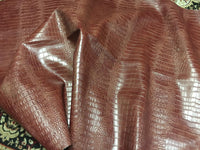 BIG NILE CROCODILE LEATHER VINYL FABRIC EMBOSSED UPHOLSTERY ALLIGATOR BY YARD