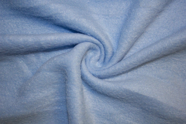 Anti Pill Polar Fleece Solid Sold By The Yard Blue
