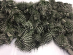 "FAUX FAKE FUR FEATHERED BIRD LONG PILE FABRIC - Olive - 62"" WIDE BY YARD COAT"