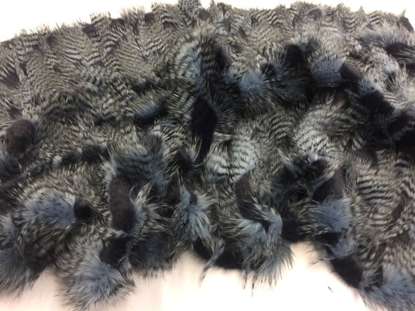 "FAUX FAKE FUR FEATHERED BIRD LONG PILE FABRIC - Navy - 62"" WIDE BY THE YARD COAT"