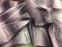 DRAGON GATOR UPHOLSTERY VINYL FABRIC - Winter Lilac - BY YARD 2 TONE LUXURY