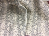 TROPIC SOPYTHANA PYTHON SNAKE VINYL FABRIC BY THE YARD UPHOLSTERY NATURAL CREAM