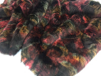 Faux Fur Fabric Animal Design Multicolor By Yard