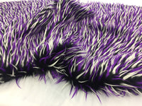 Luxurious Faux Fur Fabric Multicolor Spikes 3 Tone. Sold By The Yard