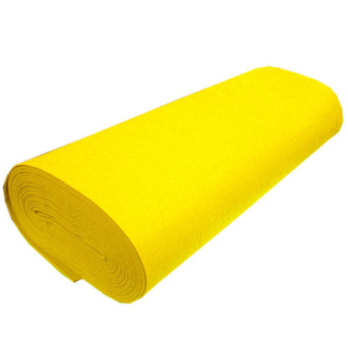 "Solid Acrylic Felt Fabric -YELLOW - Sold By The Bolt - 72"" Width ( 20 yards )"