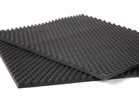 2 PK Egg Crate Soundproofing Acoustic Foam Tiles Wall Panels 1.5 x 18 x 24