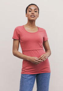 Classic Short Sleeve Top - Faded Rose