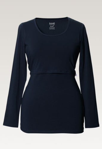 Classic Long Sleeved Shirt - Midnight Blue