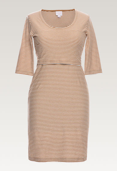 Eva Striped Dress - Caramel