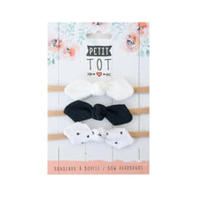 Headband Bows - Black + White