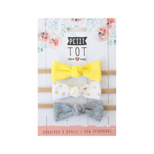 Headband Bows - Yellow Dots