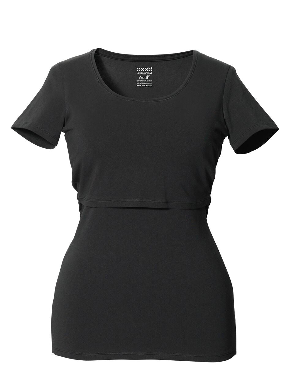Classic Short Sleeve Top - Black
