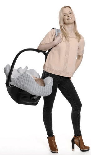 Car Seat Carrier Strap - Black & Grey