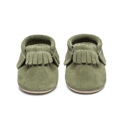 Baby Moccasins - Moss