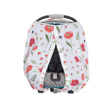 Cotton Muslin Carseat Canopy - Summer Poppy