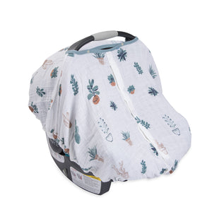 Cotton Muslin Carseat Canopy - Prickle Pots