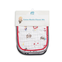 Cotton Muslin Classic Bib 3 Pack - Toy Box