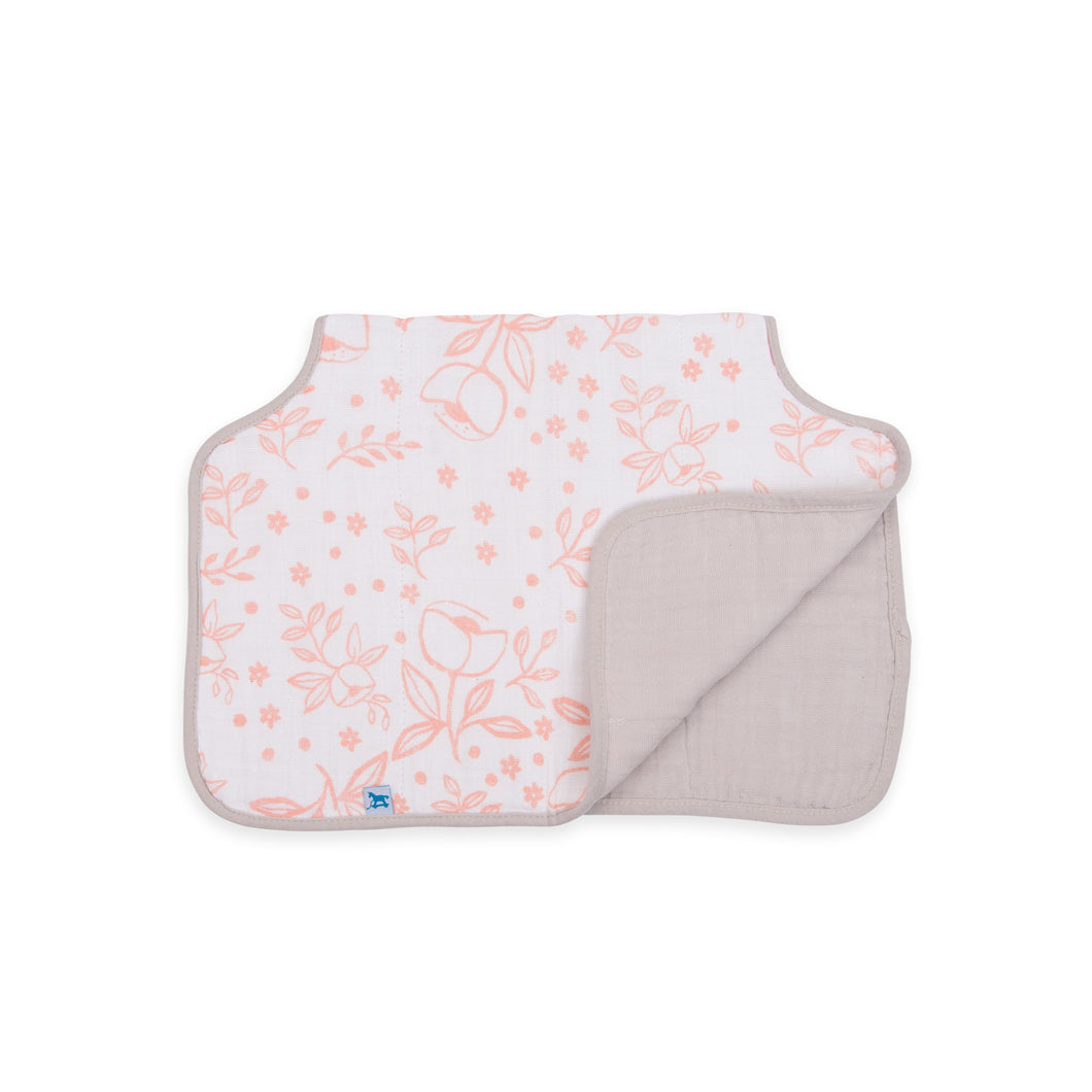 Muslin Burp Cloth - Garden Rose
