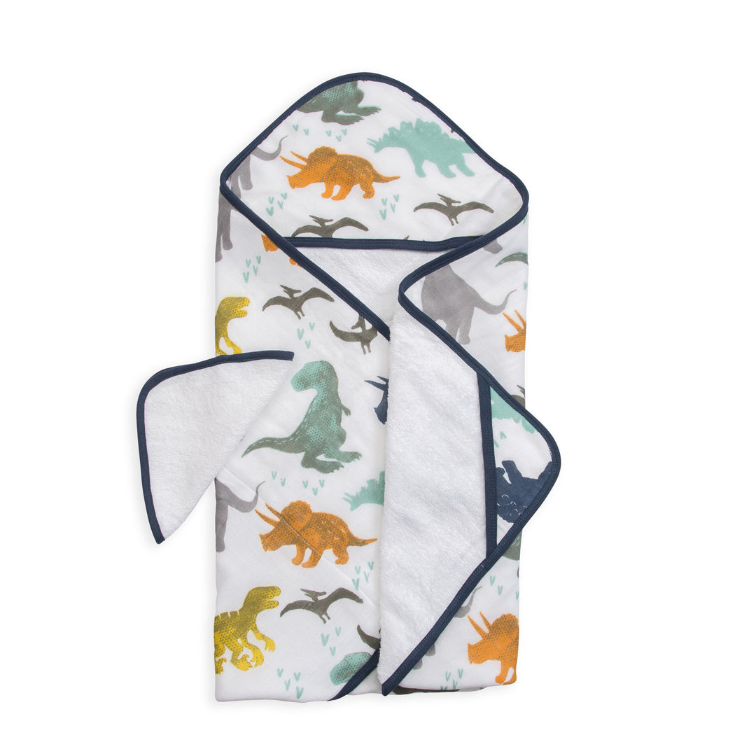 Hooded Towel + Washcloth Set - Dino Friends