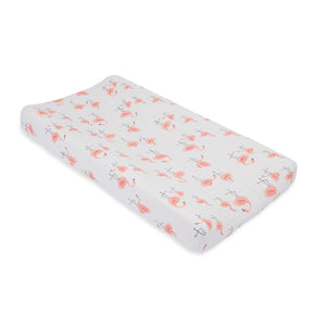Cotton Changing Pad Cover - Pink Ladies