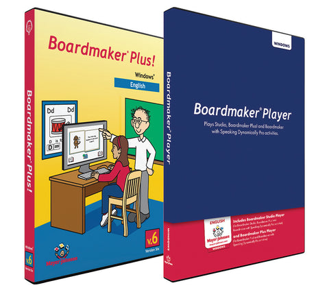 Boardmaker Plus! with  Boardmaker Player Lab-Pack for Windows