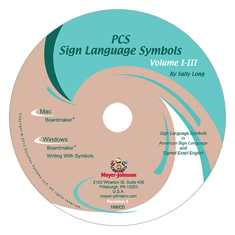 Pcs Classic Sign Language Symbols Volume I Ii Iii Studio