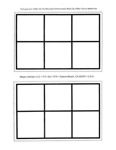 Mid-Sized Communication Book Mid-Sized Grids, 12-Page