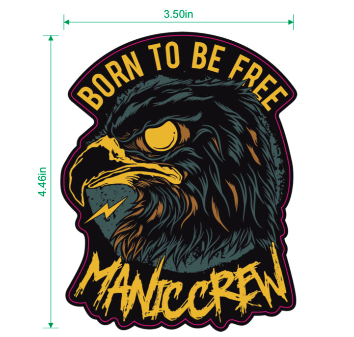 BORN TO BE FREE - Sticker
