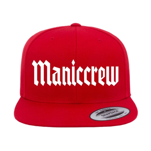 Maniccrew Snapback Hat - Red