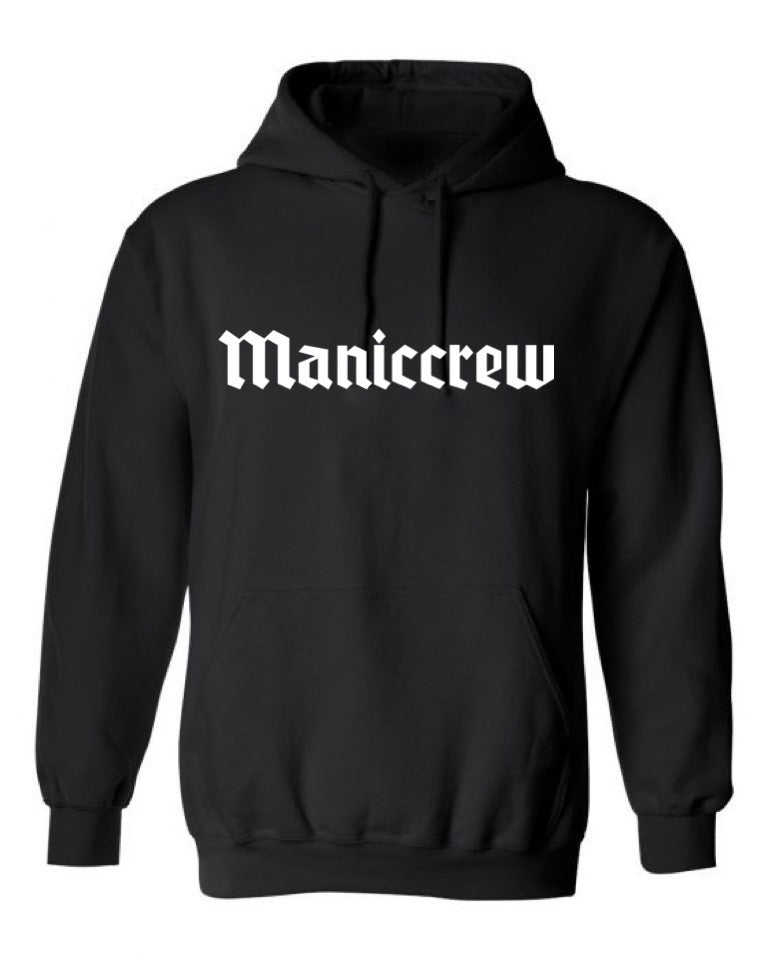 Maniccrew Embroidery Hoodie - Black