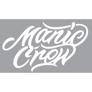 Manic Crew Die Cut Vinyl Decal Sticker - White