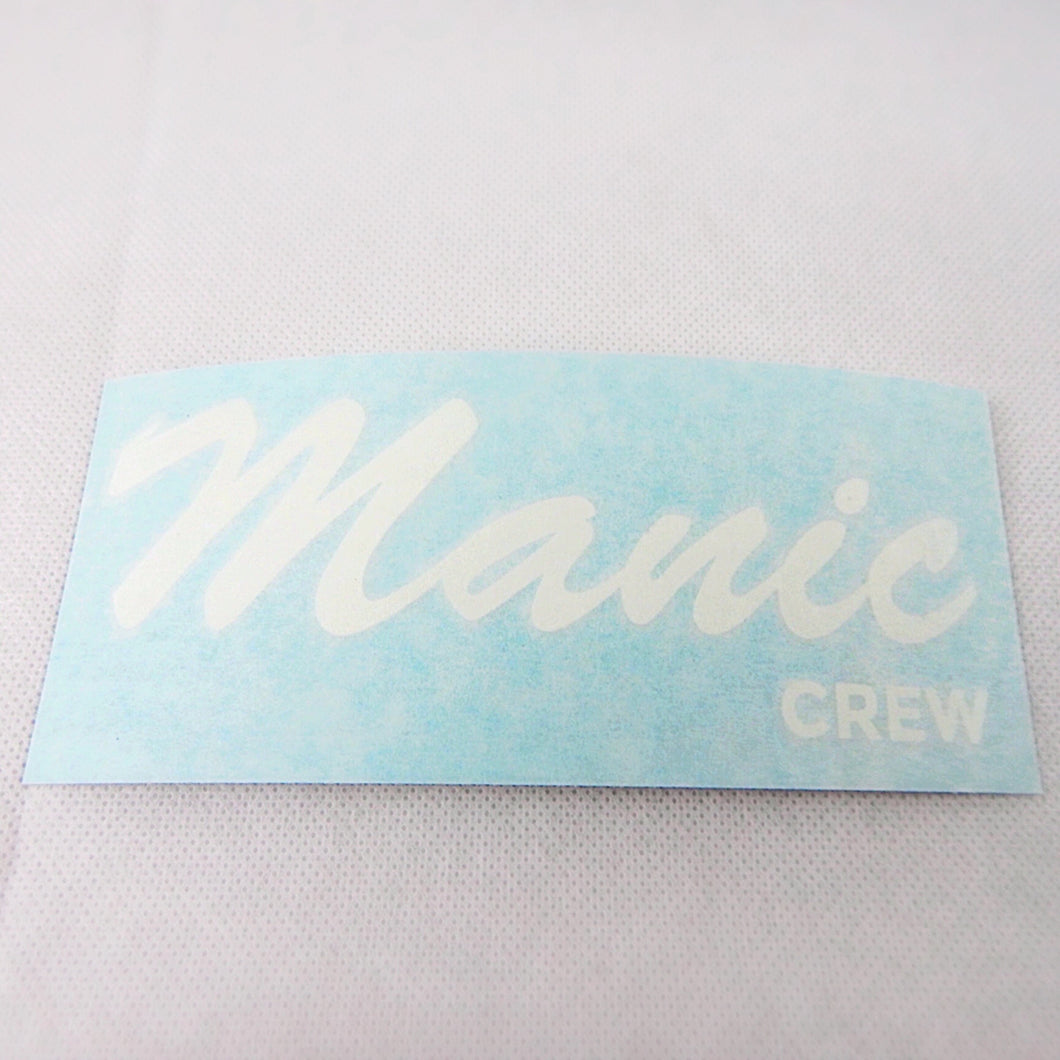 Manic Crew Die Cut Decal Sticker - White