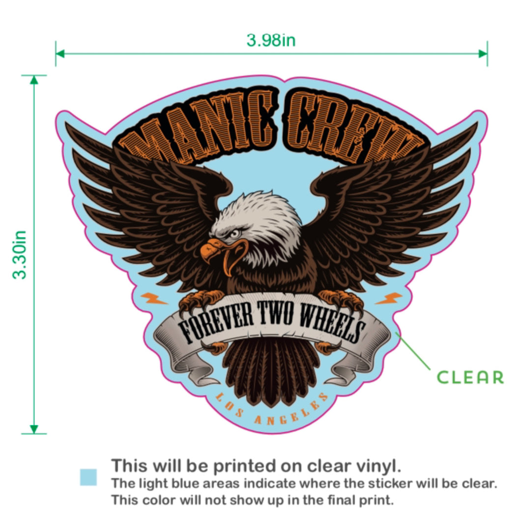 FOREVER TWO WHEELS - STICKER